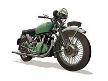 Motorcycle retro. Image computer, motorcycle retro 3D isolated white background Stock Photo