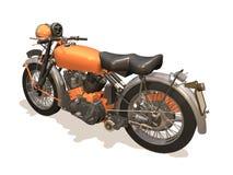 Motorcycle retro. Image computer, motorcycle retro 3D isolated white background Stock Image