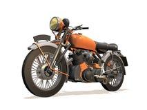 Motorcycle retro. Image computer, motorcycle retro 3D isolated white background Royalty Free Stock Photo