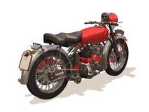 Motorcycle retro. Image computer, motorcycle retro 3D isolated white background Stock Photos