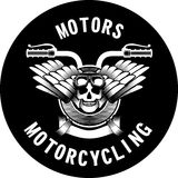 Motorcycle ribbon emblem Royalty Free Stock Images