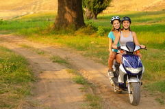 Motorcycle ride on the countryside Royalty Free Stock Photos
