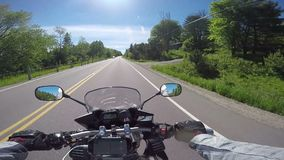 Motorcycle ride stock video footage