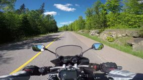 Motorcycle ride stock footage