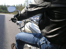 Motorcycle Rider Stock Photography