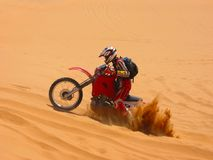 Buried Motorcycle Royalty Free Stock Photo
