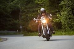 Motorcycle rider royalty free stock photo