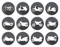Motorcycle rider Icons set. Vector Illustration Stock Photo