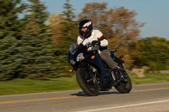 Motorcycle rider Stock Image