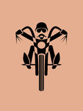 Motorcycle rider vector Stock Image