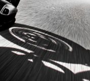 Motorcycle rider view Royalty Free Stock Photography