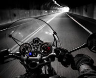 Motorcycle rider view Stock Photos