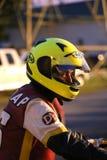 Motorcycle rider waits Stock Image