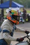 Motorcycle rider waits Royalty Free Stock Photos
