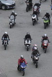 Motorcycle riders gathering Stock Photos