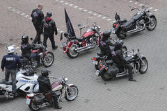 Motorcycle riders gathering Stock Photo