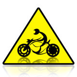 Motorcycle riders sign Stock Photos