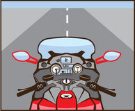 Motorcycle Riders View Color Road ahead Stock Photos