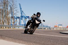 Motorcycle riding. Royalty Free Stock Photo