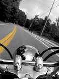 Motorcycle riding Stock Images