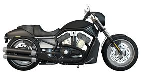 Motorcycle Right Side. Detailed motorcycle illustration from the right side with white background Stock Photos