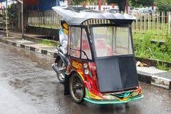 Motorcycle riskshaw, Makassar, Sulewesi, Indonesia Royalty Free Stock Photo