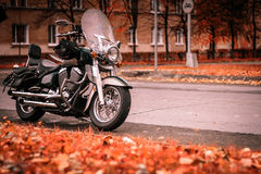 Motorcycle on the road Stock Images