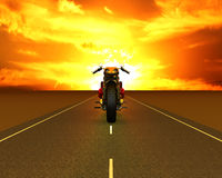 Motorcycle on the road Stock Photo