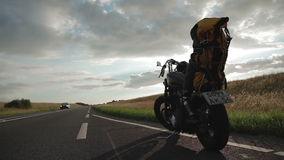Motorcycle on the Road stock video footage