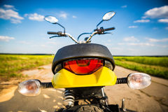 Motorcycle on the road Royalty Free Stock Photo
