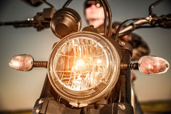 Motorcycle on the road Royalty Free Stock Photography