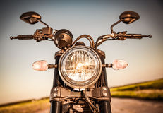 Motorcycle on the road Stock Photos
