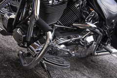 Motorcycle in a row. Motorcycle, Harley Davidson side view Royalty Free Stock Photo