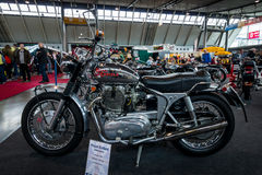 The motorcycle Royal Enfield Interceptor, 1965. Royalty Free Stock Images