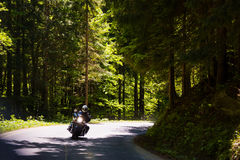 Motorcycle on the rural road. In Czech Republic Royalty Free Stock Images