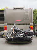 Motorcycle RV Hitch Stock Photo