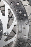 Motorcycle's disk brake Stock Image