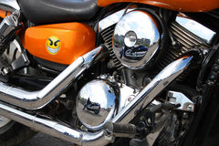 Motorcycle's engine close-up Royalty Free Stock Photography