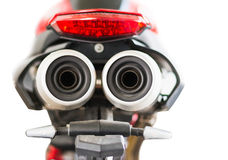 Motorcycle& x27;s exhaust pipe protect shield Royalty Free Stock Image