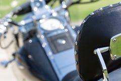 Motorcycle saddle Royalty Free Stock Images