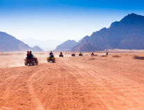 Motorcycle safari Egypt!. Motorcycle safari in the land Egypt. People travel. Beautiful  holiday background. Extreme hobby games.  Speed achievement tracking Royalty Free Stock Image