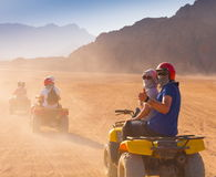 Motorcycle safari Egypt!. Motorcycle safari in the land Egypt. People travel. Beautiful  holiday background. Extreme hobby games.  Speed achievement tracking Stock Image