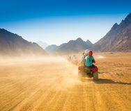 Motorcycle safari Egypt! Royalty Free Stock Image