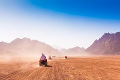 Motorcycle safari Egypt!. Motorcycle safari in the land Egypt. People travel. Beautiful  holiday background. Extreme hobby games.  Speed achievement tracking Royalty Free Stock Photo