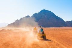 Motorcycle safari egypt royalty free stock image