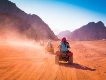 Motorcycle safari egypt. People travel beautiful  holiday background, extreme hobby games  speed achievement tracking, sinai sharm desert Royalty Free Stock Image