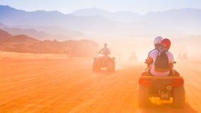 Motorcycle safari egypt. People travel beautiful  holiday background, extreme hobby games  speed achievement tracking, sinai sharm desert Royalty Free Stock Images