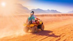 Motorcycle safari egypt. People travel beautiful  holiday background, extreme hobby games  speed achievement tracking, sinai sharm desert Stock Photo