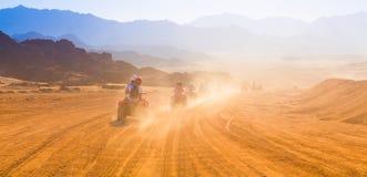 Motorcycle safari egypt. People travel beautiful  holiday background, extreme hobby games  speed achievement tracking, sinai sharm desert Stock Images