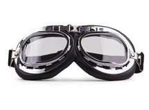 Motorcycle safety glasses on white background Royalty Free Stock Images